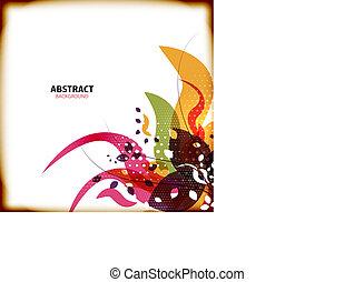 abstratos, flor, fundos, coloridos