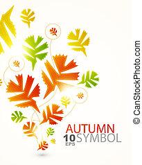 abstratos, fundo, outono