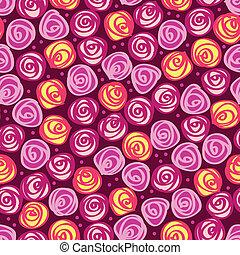 abstratos, fundo, seamless, floral