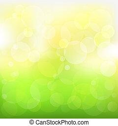 abstratos, fundo, vetorial, verde amarelo