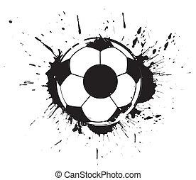 abstratos, futebol, grunge