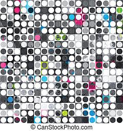 abstratos, grunge, círculo, textura, seamless