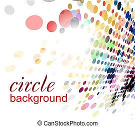 abstratos, halftone, fundo, círculo