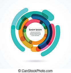 abstratos, infographic, coloridos, fundo