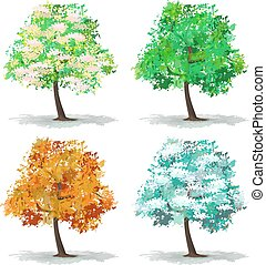 abstratos, jogo, árvore
