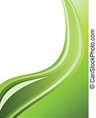 abstratos, listras, space., ondulado, experiência verde, cópia