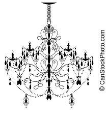 abstratos, lustre, ornate, desenho, vindima, elegante, elemento