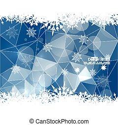 abstratos, modernos, inverno, fundo