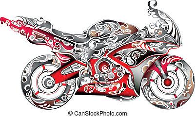 abstratos, motocicleta