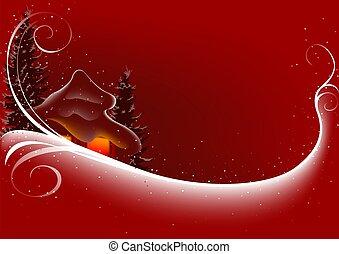 abstratos, natal, vermelho