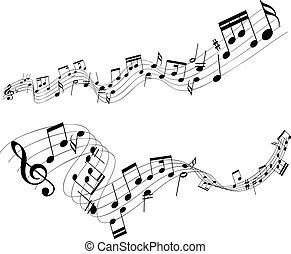 abstratos, notas música