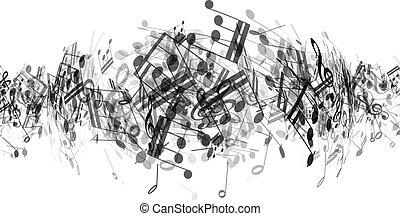 abstratos, notas música, fundo