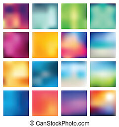 abstratos, obscurecido, (blur), backgrounds.