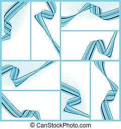 abstratos, ondulado, fundos