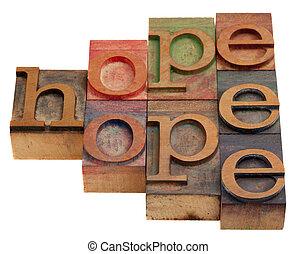 abstratos, palavra, esperança