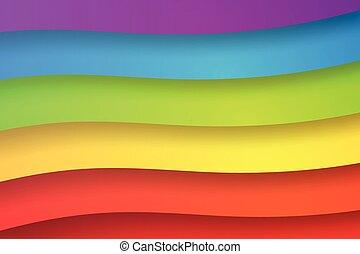 abstratos, papel, arco íris, arte, ilustração, coloridos, fundo, vetorial, forma