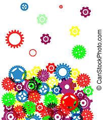 abstratos, projeto industrial, coloridos, fundo