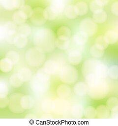 abstratos, verde, bokeh, fundo