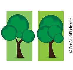 abstratos, vetorial, árvores