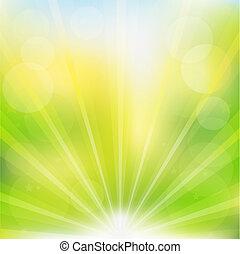 abstratos, vetorial, experiência verde