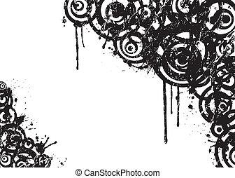 abstratos, vetorial, grunge, círculo
