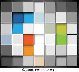 abstratos, vetorial, quadrados, fundo