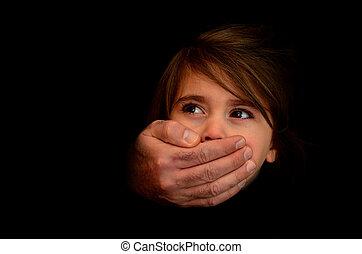 abuso, -, criança, conceito, foto