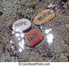 acreditar, fé, sunrays, esperança