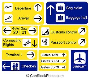 aeroporto, sinais