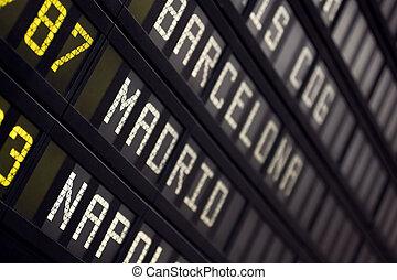 aeroporto, tábua