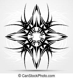 afiado, tribal, tatuagem