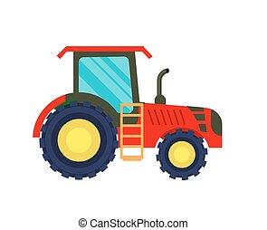agricultura, vetorial, modernos, trator, ícone