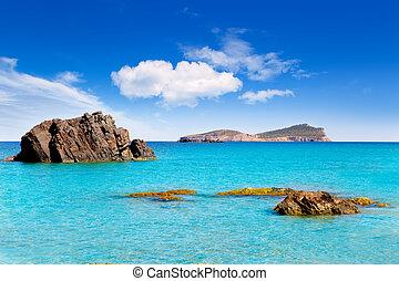 aiguas, blanca, agua, ibiza, praia, blanques