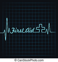 ajuda, fazer, batida coração, primeiro, palavra