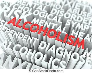 alcoholism., concept., wordcloud
