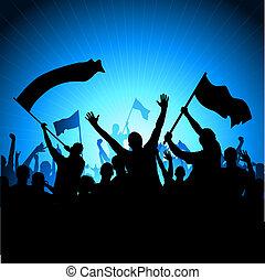 alegrando, audiência, bandeiras