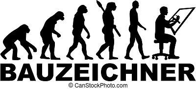 alemão, desenhador, evolução, trabalho, título
