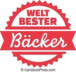 alemão, padeiro, mundo, melhor