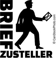 alemão, trabalho, carteiro, título
