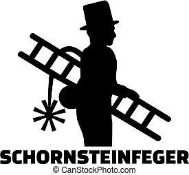 alemão, varredor, trabalho, chaminé, título