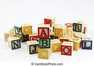 alfabeto bloqueia