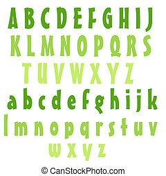 alfabeto, letras, lima