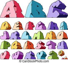 alfabeto, multicolored