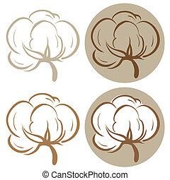 algodão, ícones
