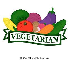 alimento, ícone, vegetariano
