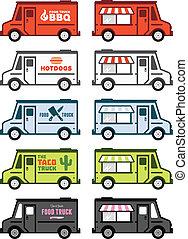 alimento, caminhão, gráficos