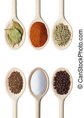 alimento, ervas, tempero, ingredientes