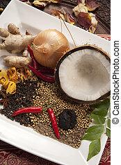alimento, indianas, ingredientes