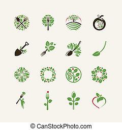 alimento, jogo, orgânica, ícones
