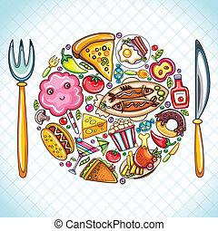 alimento, prato